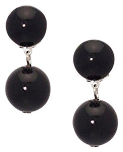 AJ Fashion Jewelry Daniela Silver tone and Black Clip On Earrings
