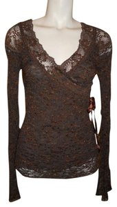 Ann Ferriday Lace Top brown