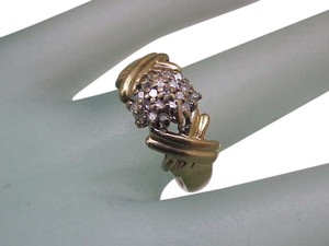 Vintage Estate 14k Yellow Gold .40cttw Diamond Ring ,1950's