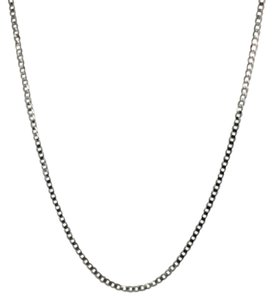 14K Solid White Gold Curb Link ~1.8mm 20 Inches
