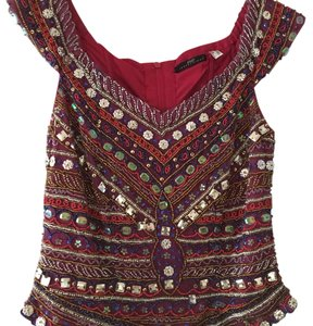 2a1b2031d9ed Apart Impressions Top Burgundy red/multicolor