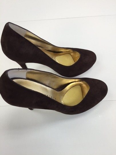 Martinez Valero High Platform Suede brown Pumps