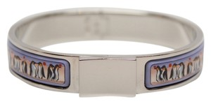 Hermès Hermes Penguins Narrow Printed Enamel Loquet Bracelet PM