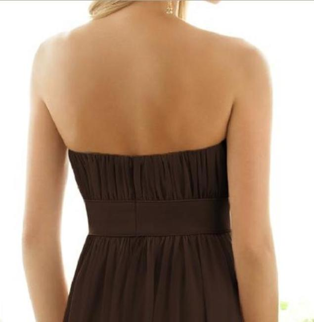 After Six Strapless Brown Dress