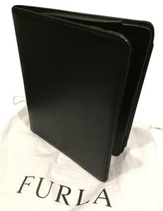 Furla New Furla Black Saffiano Leather Tablet iPad Folding Case