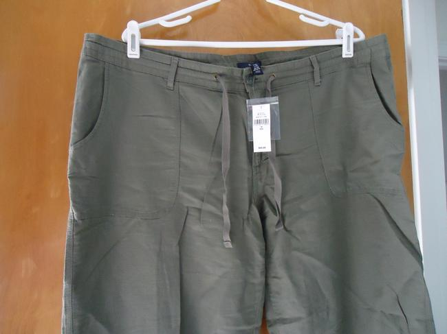 Gap Linen New With Tags Wide Leg Pants Olive/Army
