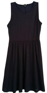 Cotton On short dress Navy Blue Striped Fitted Flare on Tradesy