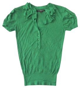 Express Ruffle Casual Work Top Green