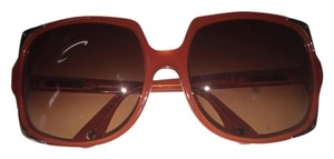 Michael Kors Michael Kors Oversized Square Sunglasses Burnt Orange