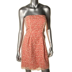 Jessica Simpson short dress orange Size Medium Black White Short Long on Tradesy
