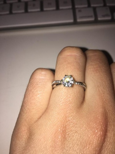 Sterling Silver Solitaire Engagement / Promise Ring