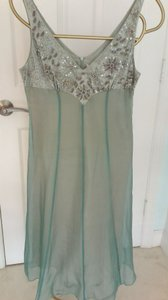 Rebecca Taylor Soft Blue Rebecca Taylor Silk Tea Length Gown Dress