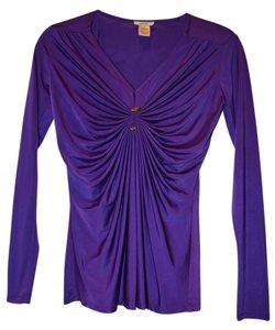 Cache Xs Draped Top Purple