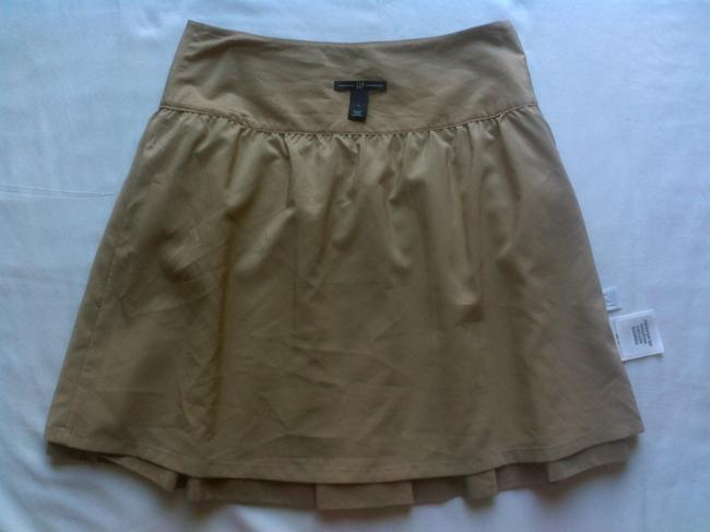 Gap Above Knee Lined A-line Luxury Skirt Tan