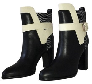 Sergio Rossi Trendy Edgy Night Out Black/white Boots