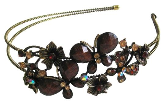 Other Chocolate Butterfly Double Arm Headband