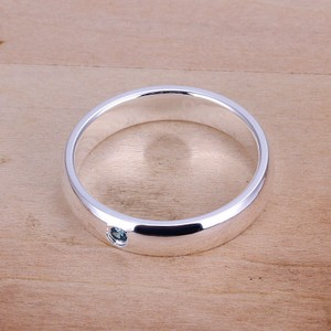 925 Plated High Shine Wedding Band Free Shipping