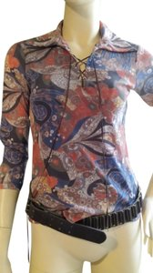 Weston Wear Paisley 3/4 Sleeve Top multi