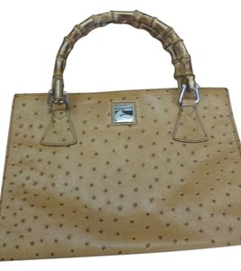 Dooney & Bourke Ostrich Bamboo Tan/brown Clutch