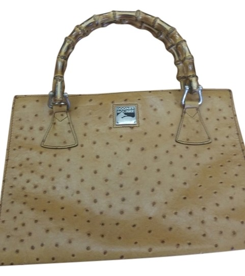 Preload https://item4.tradesy.com/images/dooney-and-bourke-wtih-handle-tanbrown-ostrich-leather-and-bamboo-clutch-14867908-0-1.jpg?width=440&height=440