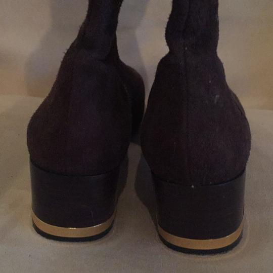 Tory Burch Suede Leather Dark Chocolate Boots