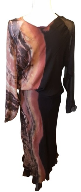 Preload https://item5.tradesy.com/images/brownsblack-and-etc-silk-skirt-blouse-long-night-out-dress-size-8-m-14868064-0-1.jpg?width=400&height=650