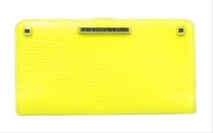 Rebecca Minkoff Wallet Studded Textured Neon Yellow Clutch