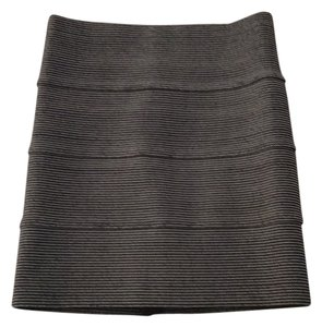 Pleasure Doing Business Mini Skirt Black and White