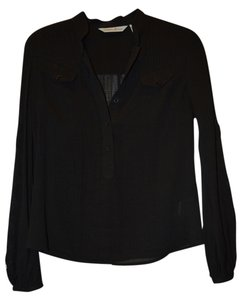 Marciano Shirt Lace Sleeves Top Black