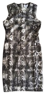 Carmen Marc Valvo Snake Print Sheath Summer Work Summer Dress