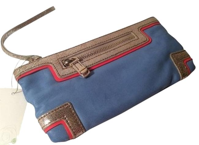 Item - For Norsdtrom New Blue Leather Wristlet