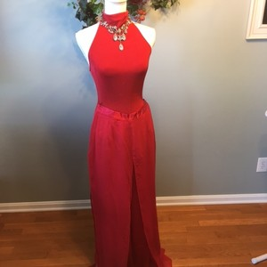 Cache Red Pants Outfit Dress