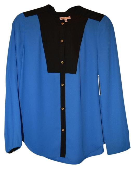 Preload https://img-static.tradesy.com/item/14869792/juicy-couture-allure-blue-tuxedo-blouse-size-4-s-0-1-650-650.jpg