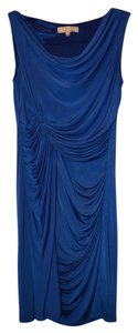 Aidan Mattox Blue Drape Dress