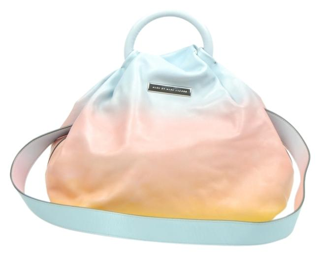Item - Pink/Blue/Yellow Leather Tote