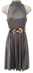 Prada Halter Night Out Made In Italy Metallic Dress