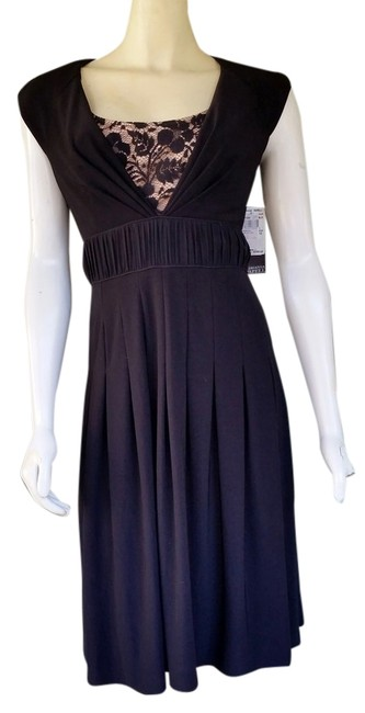 Preload https://img-static.tradesy.com/item/1487051/adrianna-papell-black-slinky-lace-front-knee-length-cocktail-dress-size-12-l-0-0-650-650.jpg
