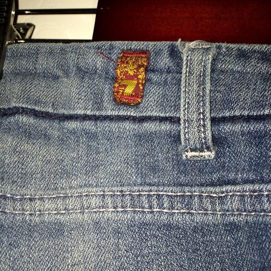 7 For All Mankind Skull Head Boot Cut Jeans 70%OFF