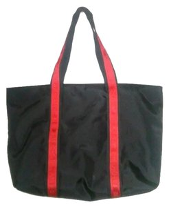 DKNY Beach Tote in Black,Red