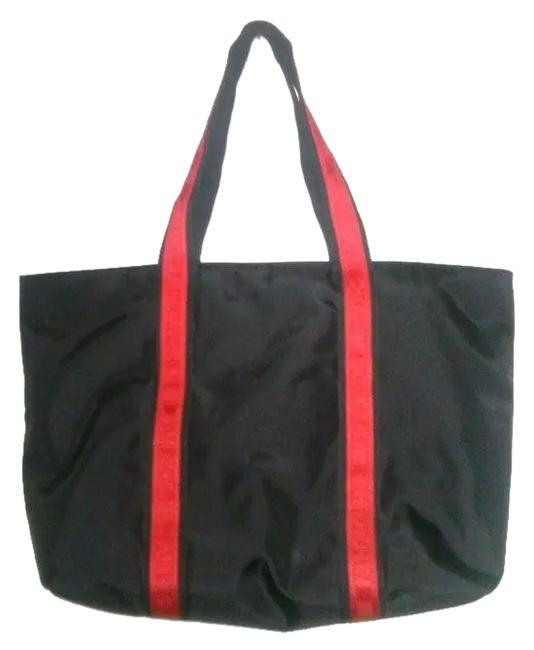 DKNY Bag Black Red Polyester Tote DKNY Bag Black Red Polyester Tote Image 1