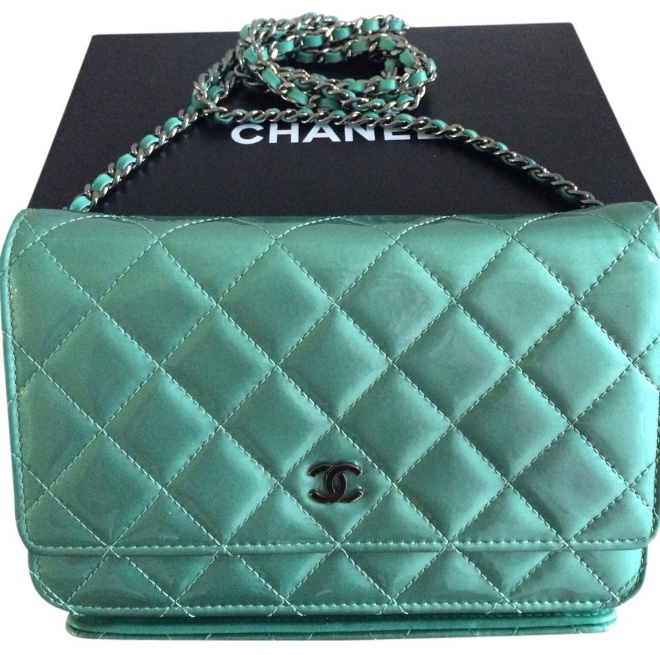 5dac38841075ad Chanel Turquoise Green on Chain Patent Woc/Wallet On Chain Wallet ...