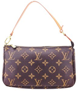 Louis Vuitton Monogram Pochette Canvas Accessoires Leather Shoulder Bag