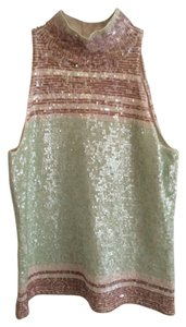 Worth Sequin High Neck Vintage Top Seafoam green