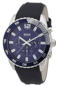 Hugo Boss Hugo Boss Chronograph Blue Dial with Black Strap Watch - item med img