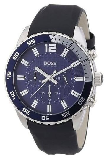 Hugo Boss Hugo Boss Chronograph Blue Dial with Black Strap Watch