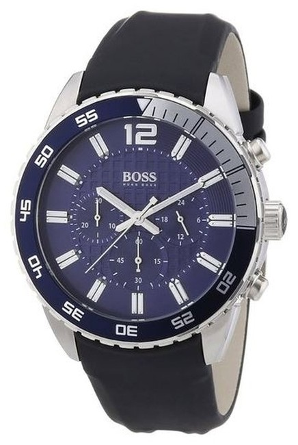 Hugo Boss Black with Blue Dial Chronograph Strap Watch Hugo Boss Black with Blue Dial Chronograph Strap Watch Image 1
