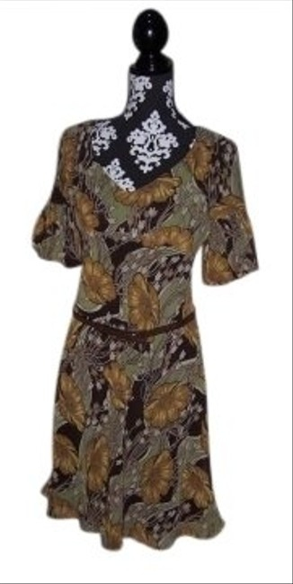 Preload https://img-static.tradesy.com/item/148718/ann-taylor-loft-brown-floral-print-mid-length-workoffice-dress-size-2-xs-0-0-650-650.jpg