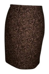 Ann Taylor LOFT Skirt Brown / Animal Print
