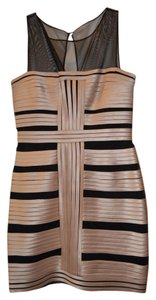 BCBGMAXAZRIA Bodycon And Nude Dress