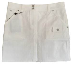 Louis Vuitton Mini Skirt White